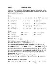 MD Final Exam Review F09