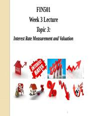 Lecture Week 3 - Topic 3