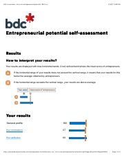 Self-assessment, test your entrepreneurial potential | BDC.pdf