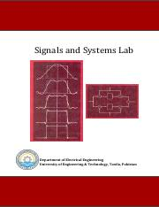 Signals Lab Manual -- 2010 UET