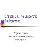 Chapter 4 The Leadership Environment.ppt