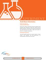 EXP Acid Base Chemistry