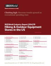 OD4378 Hiking & Outdoor Equipment Stores Industry Report