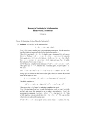Research Methods in Mathematics Homework2 Solutions