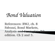 Finance1 - 06 - Bond Valuation