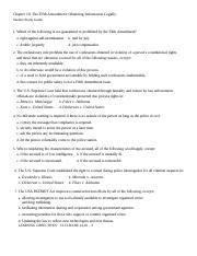 Chapter 10 Student Study Guide