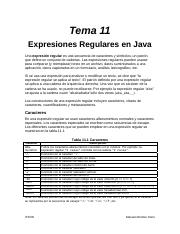 Tema 11 - Expresiones Regulares en Java