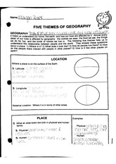 Worksheet Five Themes Of Geography Worksheet 5 themes of geography flashcards course hero 2 pages five worksheet