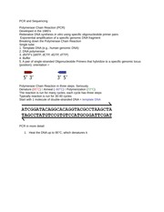 BH-Notes on DNA Sequencing