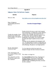 hum 130 appendix D Exercise Indigenous Culture Web Site Reviews