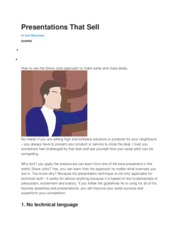Presentations That Sell