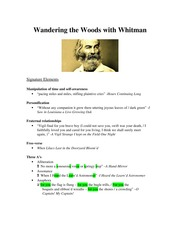 Walt Whitman Signature Poetry Elements