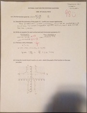Precal Rational Function FRQ Test