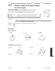 12-3.pdf - Name Class Date Practice 12-3 Inscribed Angles ...
