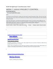 MGMT 404 Agile Project Control Discussions 2 Week 7.docx