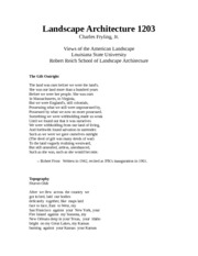 Landscape Architecture Notes