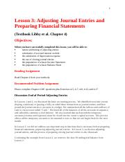 Lesson 3.  Chapter 4.  Adjusting Journal Entries & Preparing Financial Statements.docx