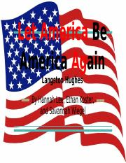 Let America Be America Again Langston Hughes