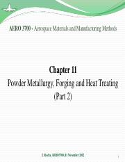 Chapter 11 - PM, Forging and Heat Treatment (part 2)