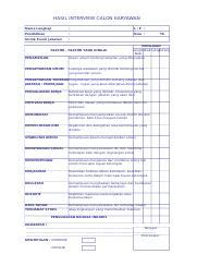 Form Interview Xls Hasil Interview Calon Karyawan Nama Lengkap L P