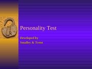 COM 320 Personality Test0
