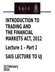 Lect 1 Part 1 - FMA & Trading 2016.02.16