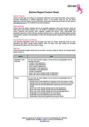 Distimo Report Product Sheet - June 2010