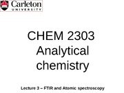 CHEM 2303 - Lecture 3 - Jan 30 2015 - Atomic spectroscopy-EarlyRelease