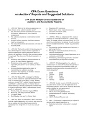 CPA-Exam-Questions-on-Auditor-Reports