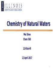32-Chem360 Spring 2017_Chemistry of natural waters.pptx