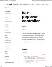 ipn-pop-over pdf - ion-popover Ionic Documentation 1 of 2 https