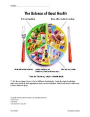 Food Plate Activity