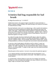 Scientists find bug responsible for bad breath