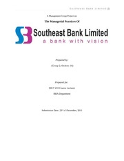 28 Managerial Practices Of Southeast Bank