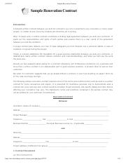 6- Sample Renovation Contract