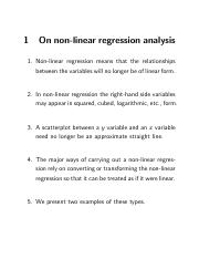 NonLinear regression.OUTPUT