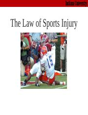 law sport injury.ppt