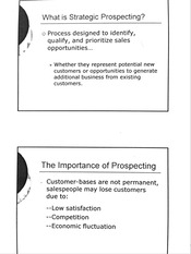 Strategic Prospecting & It's Process