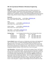 Experimental Methods Syllabus Fall 2003