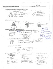 Worksheets Surface Area And Volume Worksheets With Answers surface area and volume worksheet with key