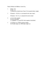 Practice Problems for Midterm- answer key