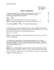 PHY2054 EXAM 1 SOLUTIONS