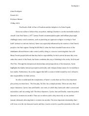 French 161 Paper #2 Final Draft