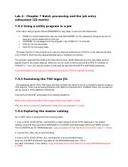 zOSLab1(2) docx - zOS Lab1 Exercises for Chapter 4 TSO/E ISPF and