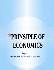 PRINSIPLE OF ECONOMICS (chapter 2)