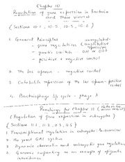 BIO 325 - Class notes - Chapter 10