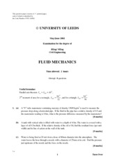 fluid mechanics cheat sheet pdf