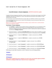 End of Excel Section 2 pg 68 Complete the Knowledge Check ...