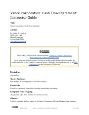 Vance Corporation_ Cash Flow Statement (Instructor Guide).docx