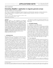 Extending MapMan_application to legume genome arrays